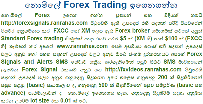 Forex sinhala video